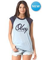 OBEY Womens Get Like Me heather kentucky blue/peacoat