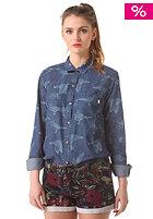 OBEY Womens Joni Button Down L/S Shirt indigo