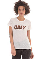 OBEY Womens Obey Cheetah Font S/S T-Shirt dusty light grey