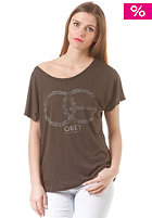 OBEY Womens OG Cheetah S/S T-Shirt graphite