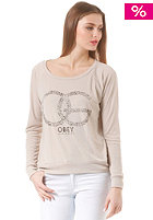 OBEY Womens OG Cheetah Sweat chateau grey