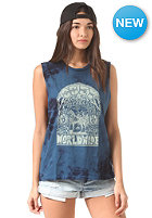 OBEY Womens Peace Horse Top indigo tie dye