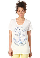 OBEY Womens Superior Strength S/S T-Shirt natural white
