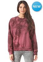OBEY Womens Tie Dye Heritage Throwback burgundy tie dye