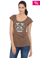 OCEAN & EARTH HONEY/ Womens T-Bird S/S T-Shirt chocolate