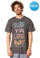 OCEAN & EARTH Surf Ya Life Away S/S T-Shirt charcoal