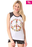 OCEAN & EARTH Womens Flower Power Muscle S/S T-Shirt white