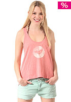 Womens Switch Singlet Top coral marle