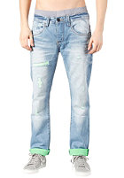 ONE GREEN ELEPHANT Columbus Pant blue denim/neon green DD