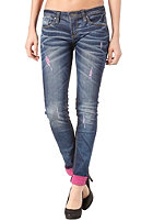 ONE GREEN ELEPHANT Womens Kosai Pant blue denim/pink dd