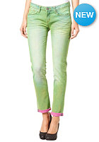 ONE GREEN ELEPHANT Womens Kosai Up Pant blue denim/green pink dd