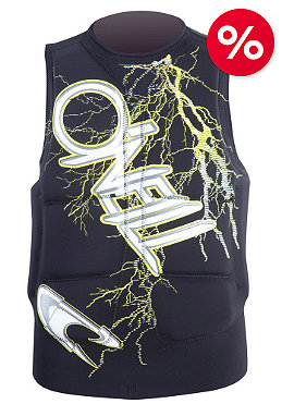 ONEILL Gooru Padded Comp Vest blacktron/yellow
