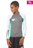 ONEILL Kids Youth Skins L/S Crew smoke/clean green/white
