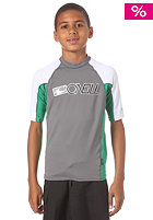 ONEILL Kids Youth Skins S/S Crew smoke/clean green/white