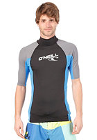 ONEILL WETSUITS Skins S/S Turtleneck black/briteblue/smoke