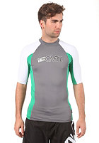 ONEILL WETSUITS Skins S/S Crew smoke/clean green/white