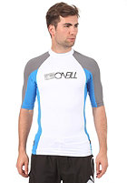 ONEILL WETSUITS Skins S/S Crew white/brt blue/smoke