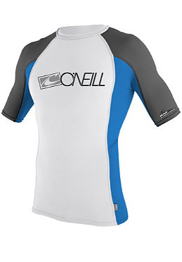ONEILL WETSUITS Skins S/S Crew white/baliblue/graphite