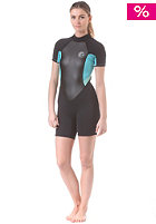 ONEILL WETSUITS Womens Bahia S/S Spring Wetsuit blk/ltaqua/spyglass