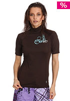 ONEILL WETSUITS Womens Skins Turtleneck S/S choclate/choclate