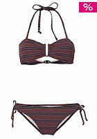 ONEILL WETSUITS Womens Stripe Bandeau B-Cup Bikini Set blue aop