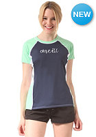 ONEILL Womens Colour Block S/S Rash Lycra navy/mint/wht