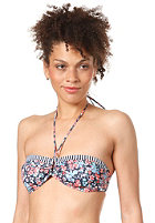 ONEILL Womens M and M Print Bandeau Bikini Top blue aop