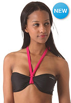 ONEILL Womens M&M Solid Bandeau B-Cup Bikini Top black out