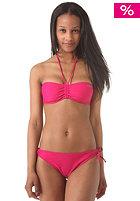 ONEILL Womens Solid Bandeau B-Cup Bikini Set pink martini
