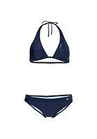ONEILL Womens Solid Halter B-Cup Bikini Set blue print