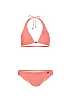 ONEILL Womens Solid Halter B-Cup Bikini Set porcelain rose