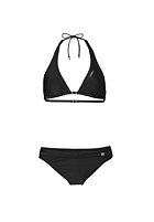 ONEILL Womens Solid Halter C-Cup Bikini Set black out