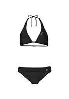 ONEILL Womens Solid Halter D-Cup Bikini Set black out