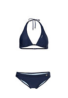 ONEILL Womens Solid Halter D-Cup Bikini Set blue print