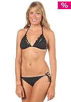 Womens Straps Triangle Bikini  C-Cup black aop
