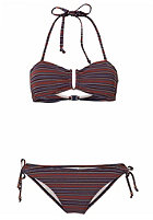 ONEILL Womens Stripe Bandeau B-Cup Bikini Set blue aop