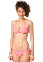 ONEILL Womens Triangle Smalltie Bikini Set neon tangerine pink