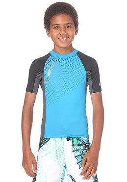 ONEILL Youth Skins Hyperfreak Printed S/S Crew turchese/coal/black