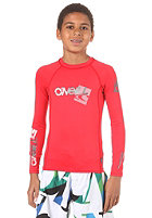ONEILL WETSUITS Youth Skins L/S Crew red