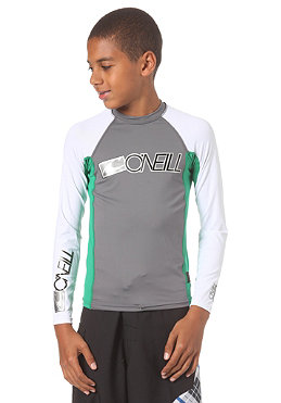 ONEILL Youth Skins L/S Crew smoke/clean green/white