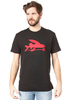 PATAGONIA Flying Fish S/S T-Shirt black w/red delicious