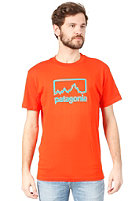 PATAGONIA Outline Logo S/S T-Shirt paintbrush red