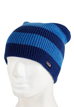 PATAGONIA Sloucher Beanie rugby stripe chanel blue