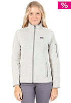 PATAGONIA Womens Better Sweat Jacket natural w/feather grey