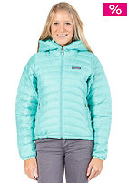 PATAGONIA Womens Down Sweat Full Zip Hooded Jacket light aquarium