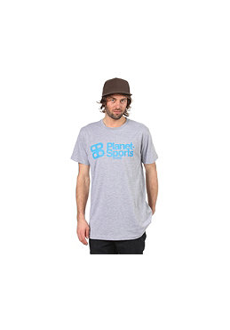 PLANET SPORTS Corporate Logo S/S Slimfit T-Shirt heather grey/cyan
