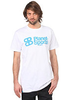 PLANET SPORTS Corporate Logo S/S Slimfit T-Shirt white/cyan
