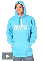PLANET SPORTS Font Hooded Sweat cyan