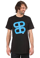 Icon Print S/S Slimfit T-Shirt black/cyan