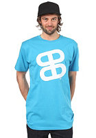 PLANET SPORTS Icon Print S/S Slimfit T-Shirt cyan/white